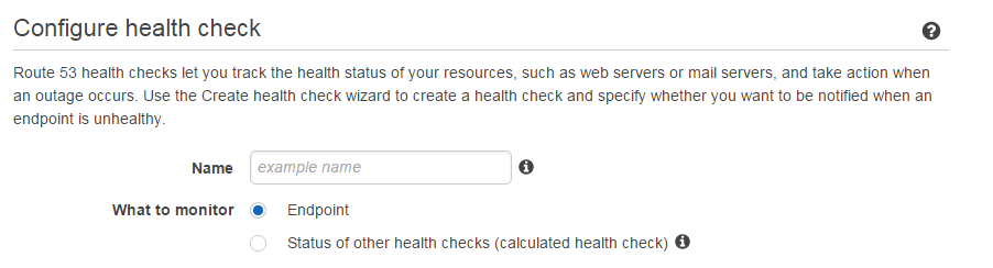 Health Check Configuration