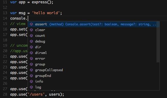Visual Studio Code for Node js Development