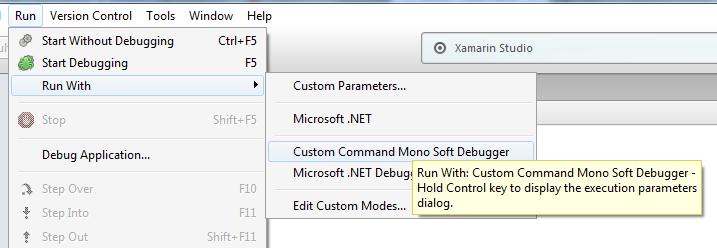 Debug Remote Mono Apps with Xamarin Studio