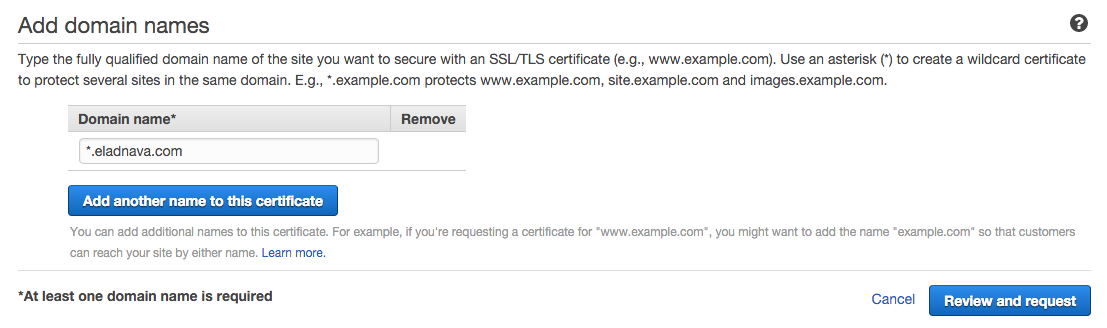 Get Free Wildcard Ssltls Certificates With Aws Certificate Manager